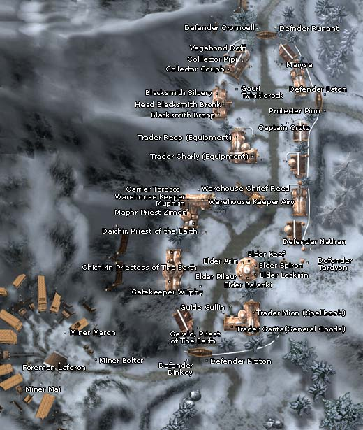 Location of Filaur in Dwarf Town