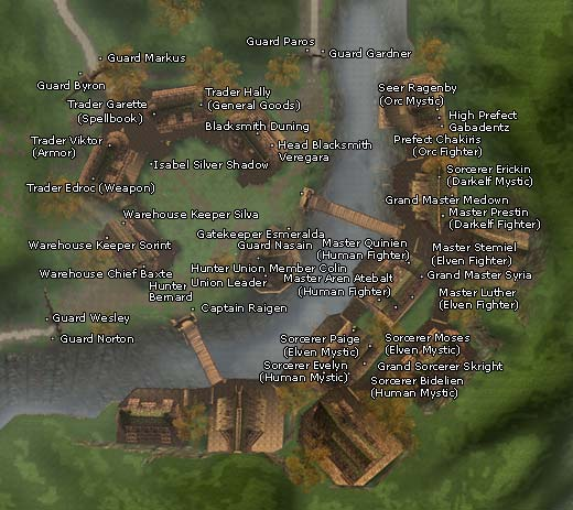 Location of Isabel Silver Shadow in Hunter's Town